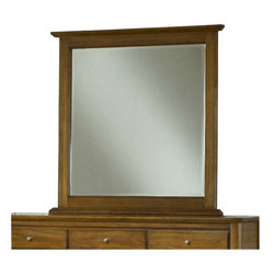 Modus Furniture - Modus Furniture City II Beveled Glass Mirror in Pecan - Modus Furniture - Mirrors - 1X2783 - The City II collection delivers the same modern chic styling as its older sibling but at a more affordable price. The group is constructed with tropical hardwoods and veneers finished in a deep Coco tone and features a padded faux leather headboard.