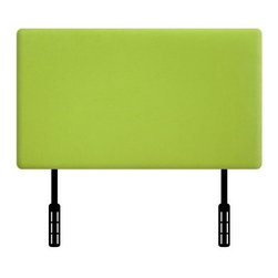 Kidz World Designer Upholstered Twin Headboard - Add a vibrant touch to your kid's room with the bright and cheery look of the Kidz World Designer Upholstered Twin Headboard. The durable wooden frame is upholstered in a soft suede fabric for a tactile appeal your kiddo will love. The adjustable height ensures easy installation on any twin-size bed. Hardware included. Choose from available colors.About Kidz WorldA.D. Blount, Linda Blount, Alison Nichols, Justin Nichols, and Dwight Griffin established Kidz World furniture in March of 2009 after looking at the children's furniture market and deciding that better quality and more fabric choices were needed. They decided to manufacture children's furniture that was more like adult furniture in terms of hardwood frames, foam filling, and other high-quality components. By providing this quality and offering the resulting furniture in a variety of fabrics, including licensed fabrics such as Mossy Oak, National Football League, Collegiate Sports, and Major League Baseball, Kidz World has quickly established themselves as the leading manufacturer of children's furniture.