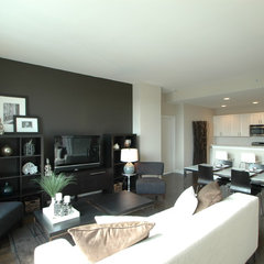 contemporary living room by 3 Doors Down Home Staging & Interior Redesign