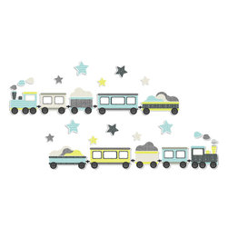 The Lovely Wall Co - Choo Choo TRAIN - Wall Decal - Choo Choo Train - Wall Decal