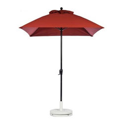 Fifthroom - 6.5' Square Market Umbrella w/Aluminum Pole, Crank & No Tilt - Enjoy the outdoors without burning to a crisp with this 6.5� Square Market Umbrella. Available in 10 fun and flirty colors, such as Terra Cotta and Pacific Blue, this umbrella is sure to provide hours of outdoor comfort. Complete with a wood grain pole and heavy duty crank system, this umbrella is durable enough to withstand years of use.