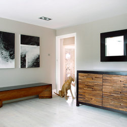 Bedroom - Santomer 3+3 Dresser & Campos Bench made from reclaimed Brazilian Peroba Rosa wood