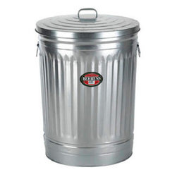 Behrens 20-Gallon Steel Trash Can - I'm not a fan of those big plastic garbage bins that the city makes you keep your outdoor garbage in. I'd much rather use one of these. (And I do — I keep all my chicken feed in bins like this!)