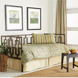 Fashion Bed Group - Miami Daybed - This coffee-colored Miami daybed would be a classy and functional addition to your home. The clean-cut rectangular detailing is balanced perfectly by the gentle,warming coffee hue and this modern piece is ideal for both sitting and sleeping.