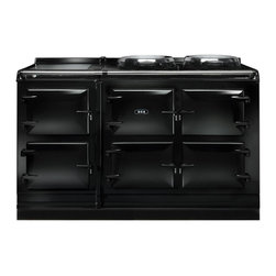 AGA Total Control 5 Oven Range Cooker, Black | ATC5-BLK - The new TC5, the latest model in the Total Control series, brings you five large cast iron ovens, two hotplates and a warming plate to deliver incredible capacity and flexibility.