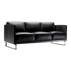 Kubikoff - Kubo 3-Seat Sofa, Light Grey - 60011gsm, Black - Kubo 3 Seat Sofa