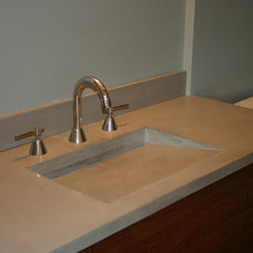 Modern Vanity Tops And Side Splashes by Concrete Arts
