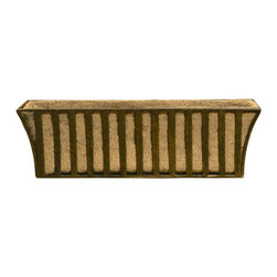 Deer Park Ironworks - Deer Park Ironworks Solera Window Box with Coco Liner - WB125 - Shop for Planters and Pottery from Hayneedle.com! For some people plants are like pets and if you're like us you enjoy pampering your pets with attractive homes like the Deer Park Ironworks Solera Window Box with Coco Liner. Your flowers and plants would hug you if they could. Our Solera window box is made of heavy gauge steel and has a natural patina powder-coated finish. And to help with keeping your loved one's soil and water retained this window box comes with a form-fitted coco liner and is available in two sizes.About Deer Park Ironworks Deer Park Ironworks has a reputation as a premier wrought iron lawn and garden company. They create timeless designs with quality materials and price them at competitive rates. All of their products are made from heavy gauge steel and have a durable powder-coated finish which are Earth-friendly since they emit zero or near zero volatile organic compounds. Deer Park's powder-coating finishes also produce a much thicker coating than conventional liquid coatings that sometimes run or sag. Furthermore Deer Park's products feature a unique natural patina appearance that complements any decor or color scheme. And their decorative baskets wall planters and window boxes come with a fitted coco liner that is a natural product that helps with proper drainage and provides a healthy environment for your plants to grow.
