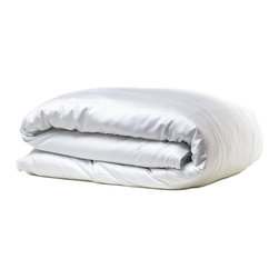 Parachute - Parachute Sateen Duvet Cover, White, Full / Queen - Ultra soft and smooth to the touch, sateen is best known for being finished with a luminous sheen. Parachute's sateen duvet cover is elegant without being overstated, and finished with a subtle double stitch tipping. It's everything you need to keep you and your comforter cozy through the night. Each Parachute duvet cover features hidden rubber buttons that are durable during care.