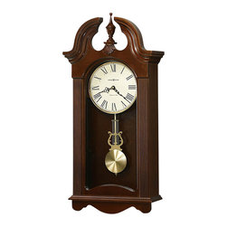Howard Miller - Howard Miller Malia Wood Wall Clock in Cherry Bordeaux Finish - Howard Miller - Wall Clocks - 625466 - For over 70 years Howard Miller has understood the need to create products that are steeped in quality and value and to never expect anything less than the best. No matter the price of the purchase you have Howard Miller's assurance of quality that is reflected in both the products they create and in the people whose artistic talents they rely on to manufacture them. Incomparable workmanship. Unsurpassed quality. A quest for perfection.
