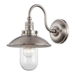 Minka Lavery - Minka Lavery 71162-84 Downtown Edison Wall Sconce In Brushed Nickel - Manufacturer: Minka Lavery