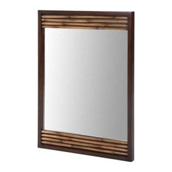 "Xylem Group - Bambu Mirror 26"" - Dark Bamboo - Bambu Mirror 26"" - Dark Bamboo"