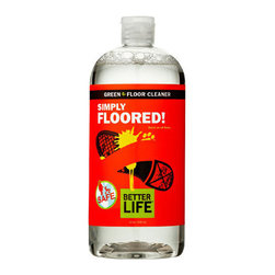 Better Life - Better Life Simply Floored Floor Cleaner - 32 fl oz - Spilled milk? Don't worry about it. With this Better Life floor cleaner you can get it all taken care of without a fuss. This natural cleaner was manufactured specifically for those who want to keep their homes safe from harmful toxins, as well as doing their part to help the environment.