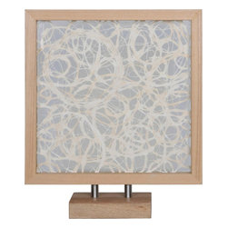 """Ren-Wil - Fragile Spirals Alternative Wall Decor - A sure conversation starter, Fragile Spirals is made from an abstract paper design between clear glass. This piece features both a frame and base with a light wood finish.made from an abstract paper design between clear glass. This piece features both a frame and base with a light wood finish.; Artist: Giovanni Russo; Fomat: Square; Wood Frame; Hanging Hardware Included; Weight: 9.92 lbs; Dimensions: 17.32"""" x 24.4"""""""