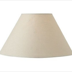 PB Basic Linen Lamp Shade, Large Bisque - Expand your options with our interchangeable PB Basic Linen Lamp Shades, designed to be combined with any of our Mix & Match(R) lamp bases (sold separately). Small: 13'' diameter, 9'' high Medium: 17'' diameter, 11.5'' high Large: 21'' diameter, 13'' high 100% linen. Pair with any of our Mix & Match(R) lamp bases (sold separately).