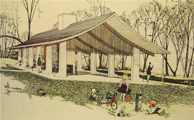 Island Park Shelter, Robert C. Metcalf, architect (1962)