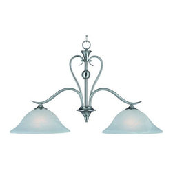 Hardware House - Electrical - 10-4104 Satin Nickel 2-Light Pendant - Dover 2-Light Kitchen/Bar Fixture
