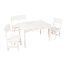 Kidkraft - KidKraft Nantucket Table with Bench and 2 Chair Set - Kidkraft - Kids' Table and Chair Sets - 26110 - The Nantucket Table with Bench and Two Chairs is one of our most gorgeous furniture sets to date. Kids can use the large workspace for working on homework making crafts or even enjoying a tasty meal.