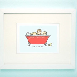 Children's Bathroom Art Print by Cinnamon Ink - This is the perfect piece of bathroom artwork for a child.