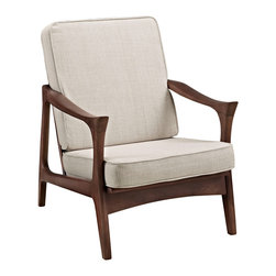 Classic Lounger - Elegant, simple lines give this modern chair a mid-century twist. It makes for a perfect foundation piece.