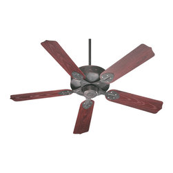 """Quorum Lighting - Quorum Lighting 52"""" Hudson Patio Transitional Ceiling Fan X-44-525731 - From the Hudson Collection, this Quorum Lighting 52"""" patio ceiling fan features traditional scalloped pointed fan blades paired with a coordinating cleanly styled body. This fixture is available in three finish options, allowing you to find the right look for your home."""