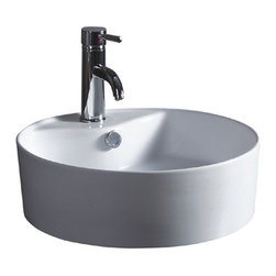 Wells Sinkware - Wells Sinkware 1818 Ceramic Lavatory White - Vitreous china lavatory, Extra smooth surface, Exterior dimensions: 18-1/2 inch by 18-1/2 inch, Limited one-year warranty