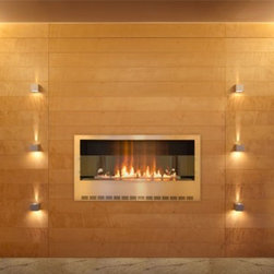 Planika 43'' x 26'' STEEL Casing For FLA Wall Mounted Fireplace - Long fireplace in a new casing!
