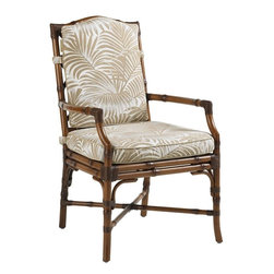 Lexington - Tommy Bahama Island Estate Veranda Dining Arm Chair - When creating outdoor dining that reflects the pleasure of a vacation resort, be sure to include a table and chairs that invites your family and friends to linger for great conversation when the dessert is finished. This cushion seat and back will to just that.