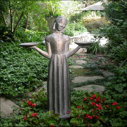 Savannah Bird Girl Outdoor Statue Sculpture -