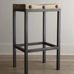 'Wilber' Stools - I love the sturdy frame and chunky nailhead detail on this one. It comes in both counter and bar heights. I think the taller ones look a little better proportioned.