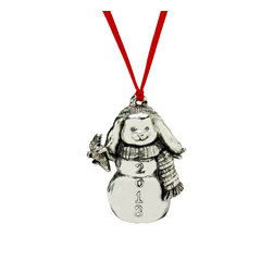 Arthur Court - Snow Bunny 2013 Ornament - Talk about a snow bunny! Trim your tree with this collectible aluminum ornament — it's sure to be a favorite for every season to come.