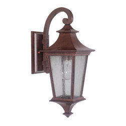 Craftmade - Craftmade Z1354-LED Argent 1 Light LED Small Closed Bottom Outdoor Wall Sconce - Features: