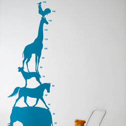 Animal Tower Wall Stickers - Blue - With our decorative WallStickers, it is easy to create a new look and change the style of a room in a matter of minutes. Can be applied to all even and smooth surfaces. Will not stick to rough surfaces, such as brick walls etc.