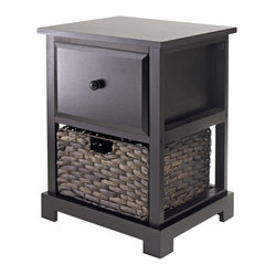 Casablanca Accent Table with Folding Basket
