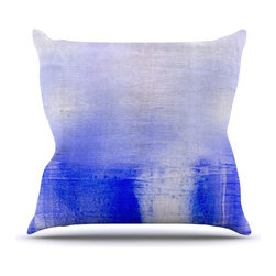 "Kess InHouse - Iris Lehnhardt ""Blue & Lavender"" Blue White Throw Pillow (Indoor, 26"" x 26"") - Rest among the art you love. Transform your hang out room into a hip gallery, that's also comfortable. With this pillow you can create an environment that reflects your unique style. It's amazing what a throw pillow can do to complete a room. (Kess InHouse is not responsible for pillow fighting that may occur as the result of creative stimulation)."
