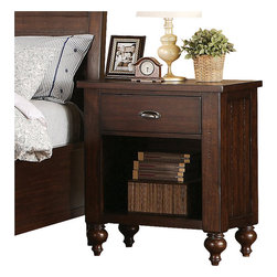 Riverside Furniture - Riverside Furniture Castlewood 1-Drawer Nightstand in Warm Tobacco - Riverside Furniture - Nightstands - 33569 - Riverside's products are designed and constructed for use in the home and are generally not intended for rental, commercial, institutional or other applications not considered to be household usage.