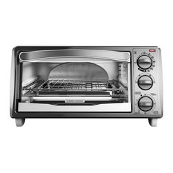 Black & Decker - Black & Decker TO1313SWD 4-slice Metallic and White Toaster Oven - Featuring a sleek painted metallic white finish,this Black & Decker toaster oven is a perfect complement to your cooking appliances. Whether cooking a pizza,toast or any other food that needs a warm,crisp delivery,this oven is will get the job done.