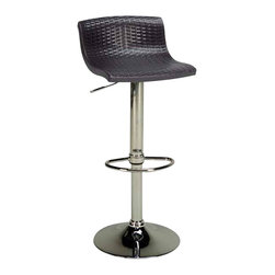 Euromobilia - Euromobilia Nadir Adjustable Pub Stool in Brown - Indoor pub stool adjustable counter/ bar height. Resin seat and back. Chrome base. Made in Italy.