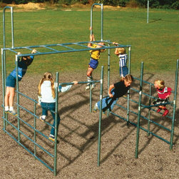 Sportsplay - Sportsplay Hercules II - 501-117 - Shop for Swings Slides and Gyms from Hayneedle.com! Big and strong the Sportsplay Hercules II is ready for all the climbing and gymnastics kids can throw. Constructed of galvanized steel pipes the sliding pole measures a full 140-inches high. Kids better get ready to build up their calluses with all the flips and sliding they'll be doing.About SportsPlay EquipmentFrom early childhood to early teens SportsPlay offers a broad range of fun value added products manufactured for quality and long-term performance. Their mission is to provide fun equipment of exceptional safety durability and value on the playground and in the neighborhood.SportsPlay is proud to offer IPEMA certified products. In the interest of public playground safety IPEMA provides a third-party certification service whereby a designated independent laboratory validates a manufacturer's certification of conformance to the ASTM F-1487 (excluding section 10 and 12.6.1) Standard Consumer Safety Performance Specification For Public Use standard. The use of this seal signifies that SportsPlay Equipment has received written validation from the independent laboratory that the product associated with the use of the seals conforms to the requirements of ASTM F-1487.SportsPlay Equipment is a member in good standing of IPEMA the International Play Equipment Manufacturers Association. IPEMA is a member-driven international trade organization which represents and promotes an open market for manufacturers of play equipment and surfacing.
