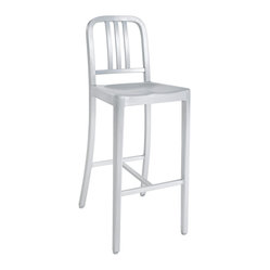 Emeco Navy Style Bar Stool In Brushed Aluminum
