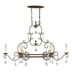 Feiss - Chateau Mocha Bronze Six-Light Chandelier - Canopy Dimensions: 10.75 x 4.5 Oval Feiss - F2304/6MBZ