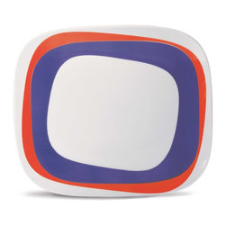 Oxford Porcelains - Karim Rashid-Koil Dinner plate - Innovative and asymmetrical, this Karim Rashid dinner plate design is offbeat and futuristic. The porcelain work of art will make even the most basic of meals an artistic adventure.