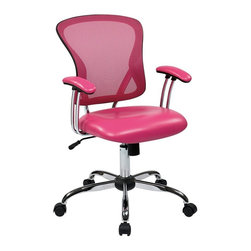 Ave Six - Task Chair in Pink - Pressurized seat height adjustment