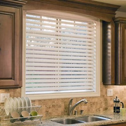 "Norman Ultimate 2 1/2"" Faux Wood Blinds - The NEW Ultimate 2 1/2"" Fauxwood Blind comes standard with non-slip the patented SmartPrivacy slats for perfect privacy and slat closure."