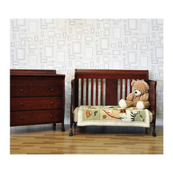 "DaVinci - Porter 4-in-1 Convertible Crib Set - Features: -Porter collection. -Made of solid New Zealand pine wood. -Mattress support that can be adjusted to 4 levels to adjust to your growing baby. -Toddler guard rail kit included to easily convert crib to toddler bed for extended use. -Footboard and headboard included to convert to full size. -Stationary side crib with no moving parts. -Lead and phthalate safe. -Non-toxic finish. Dimensions: -38 - 41.75"" H x 53.5"" W x 33.5"" D, 76 lbs."
