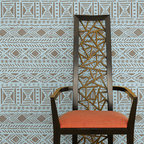 Tribal Vibe Allover Stencil - We've taken geometric stencils to a new level! Our Tribal Vibe Allover Wall Stencil from Royal Design Studio is inspired by the many geometric shapes found in African art. Add an Afro-chic touch to any room with this modern take on traditional motifs.