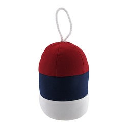 Zeckos - Decorative Nautical Buoy Doorstop 9 Inches - This decorative doorstop is the perfect way to keep doors open and let in the fresh breeze. Whether you are in your beach house or just love the nautical design, this buoy is a more elegant alternative to the commonly used plastic doorstop. This decorative doorstop stands 9 inches tall and is made from 80% cotton and 20% sand.