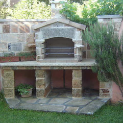 Amazing Ancient BBQ's - Product: Authentic Limestone BBQ layouts for Patio Grills.