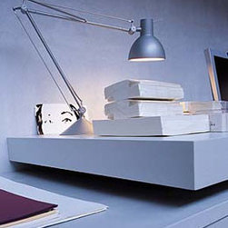 Archimoon Classic Table Lamp By Flos Lighting - In the FLos Archimoon Classic Starck has revised and reinterpreted the simple form of a classic desk lamp from an earlier time.