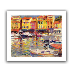 ArtWall - Art Wall Peter Graham 'Harbour at Cassis' Gallery-wrapped Canvas Art - Artist: Peter GrahamTitle: Harbour at CassisProduct type: Gallery-wrapped canvas